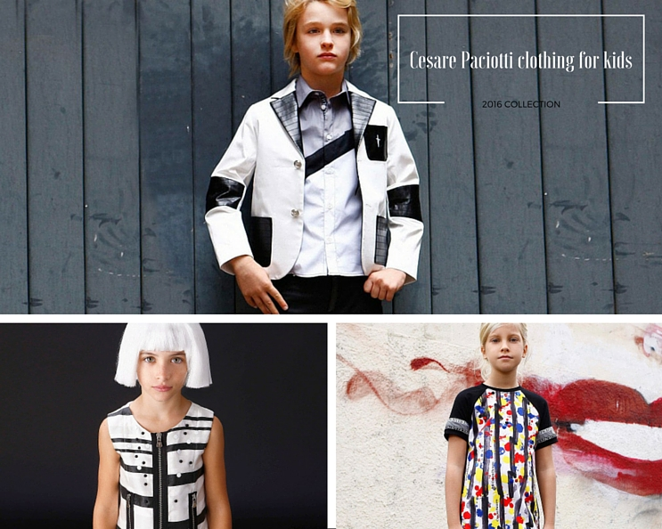 Cesare Paciotti clothing for kids