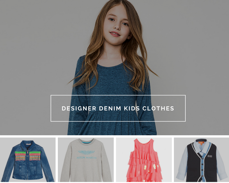 Designer denim kids clothes