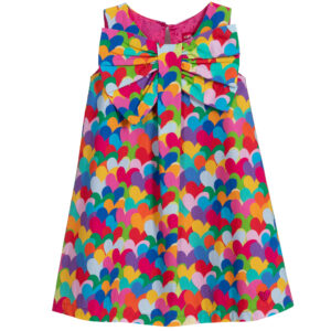 Agatha Ruiz de la Prada Colourful Heart Print Dress for Girls