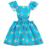 Agatha Ruiz de la Prada Cotton Pinafore Dress for girls