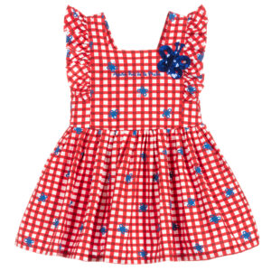 Agatha Ruiz de la Prada Girls Red Cotton Butterfly Dress
