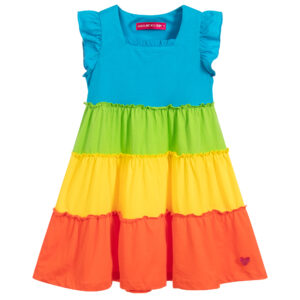 Agatha Ruiz de la Prada Girls rainbow jersey dress for young princeses