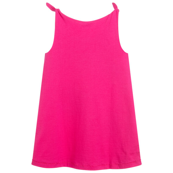Agatha Ruiz de la Prada Pink Jersey Dress With Cherries for Girls 2