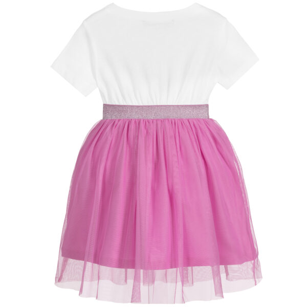 Agatha Ruiz de la Prada White & Pink Tulle Dress for Girls 2