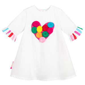 Agatha Ruiz de la Prada lightweight cotton heart dress for little beauties