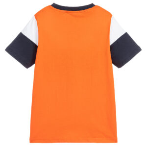 Aigner Kids Orange & Blue T-Shirt for boys 1