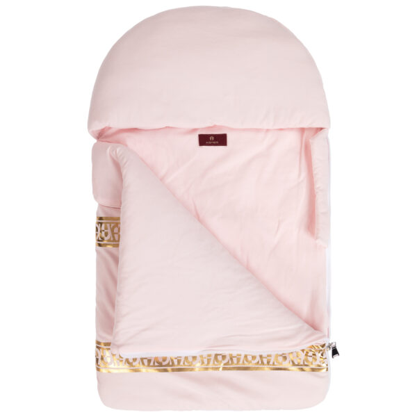 Aigner Kids Pink Baby Nest with Gold logo print (71cm) 1