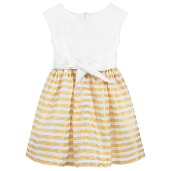 Aigner Kids White & Gold Cotton Dress for little princesses 2