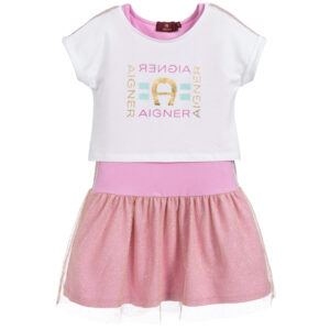 Aigner Kids White & Pink Dress & Top for beautiful princeses
