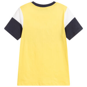 Aigner Kids Yellow & Blue Logo T-Shirt for boys 1
