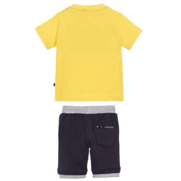 Aigner Kids Yellow & Blue Shorts suit for boys 2