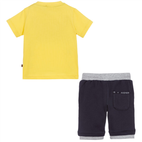 Aigner Kids Yellow & Blue Shorts suit for boys 3