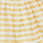 Aigner Kids white and gold striped dress for little girls 2