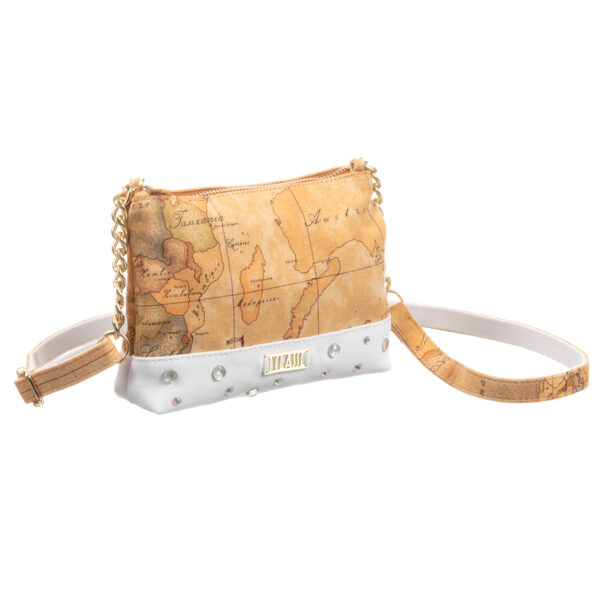 Alviero Martini Beige and White Geo Map Bag for girls (19cm) 2