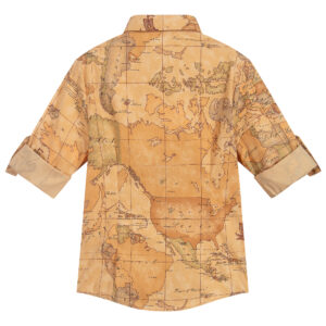 Alviero Martini Geo Map Shirt للأولاد الأنيقين 1