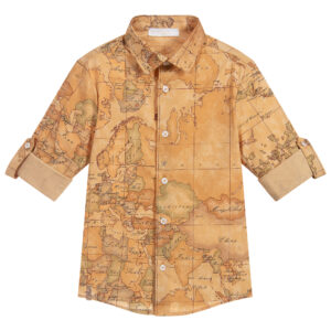 Alviero Martini Geo Map Shirt للأولاد الأنيقين