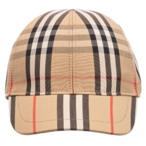 Burberry Beige Check Baseball Cap