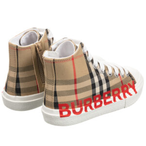 Burberry High-Top Check Trainers for girls and boys 2