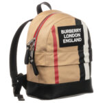 Burberry beige backpack for children with a logo (30cm) 3