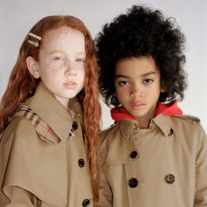Burberry beige coat for girls 1