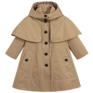 Burberry beige coat for girls