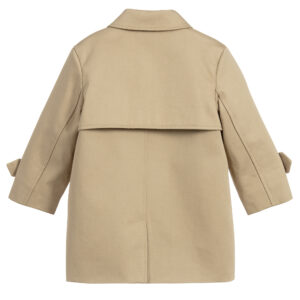 Burberry beige cotton coat for girls 1