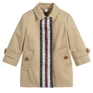 Burberry beige cotton coat for girls