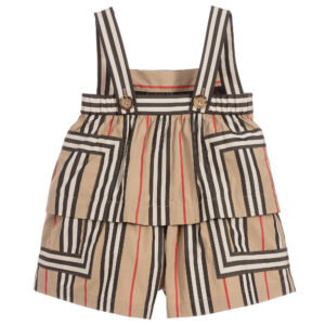 Burberry lightweight cotton girls striped playsuit 1