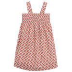 Burberry red dress for girls with print in red