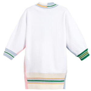 Burberry white logo sweatshirt dress for girls 1