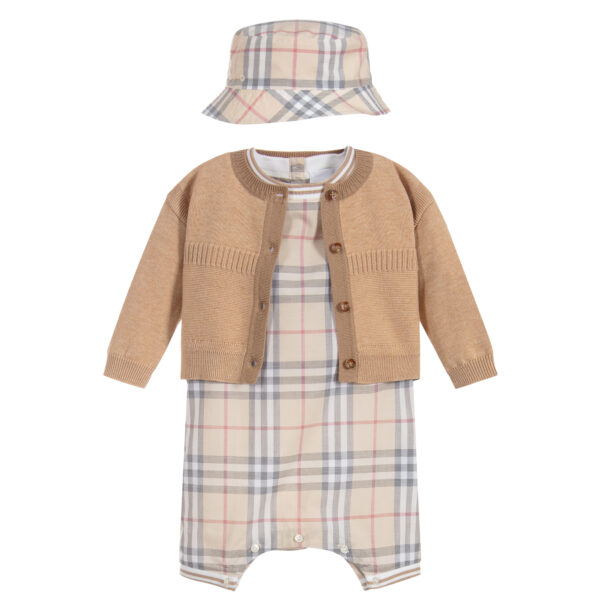 Burberry beautiful beige set for baby boys