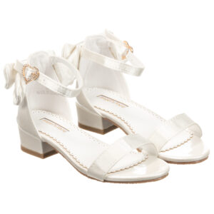 Angel's Face Beautiful White Sandals For Little Princeses