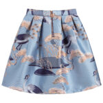 Angel's Face Designer Blue Skirt With Birds 1