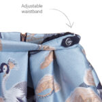 Angel's Face Designer Blue Skirt With Birds 2