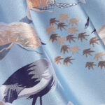 Angel's Face Designer Blue Skirt With Birds 3