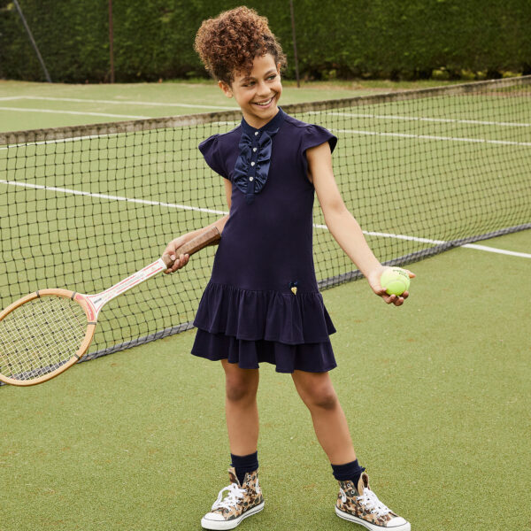 Angel's Face Girls Blue Cotton Dress 1