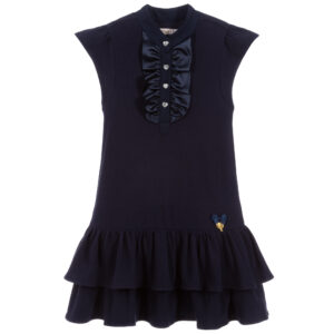 Angel's Face Girls Blue Cotton Dress
