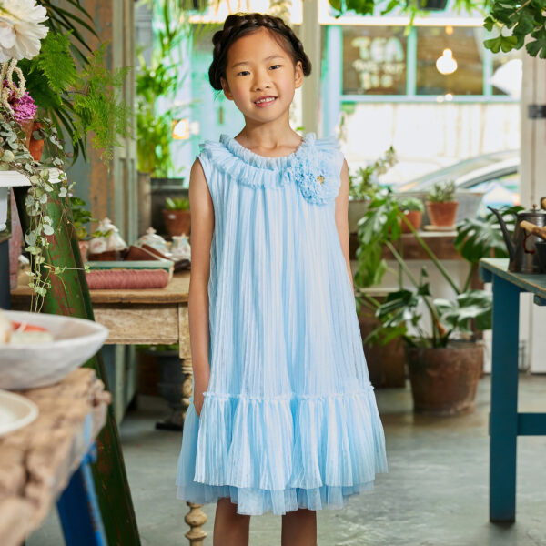 Angel's Face Girls Blue Tulle Dress For Fashionistas 1