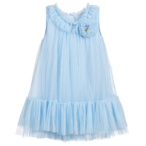 Angel's Face Girls Blue Tulle Dress For Fashionistas