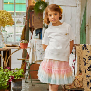 Angel's Face Pastel Pink Skirt For Little Ladies 1