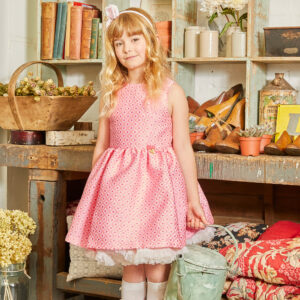 Angel's Face Pink Sleeveless Dress For Girls 1