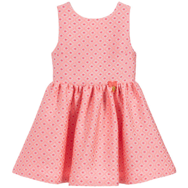 Angel's Face Pink Sleeveless Dress For Girls