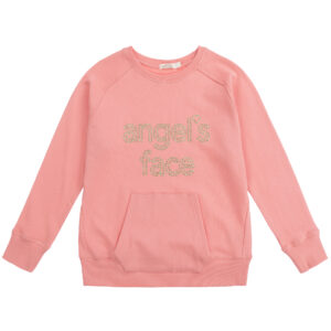 Angel's Face Pink Sweatshirt For Beautiful Girls