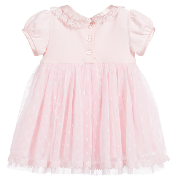 Angel's Face Pink Tulle Dress Set For Baby Girls 2