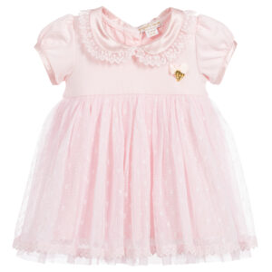 Angel's Face Pink Tulle Dress Set For Baby Girls
