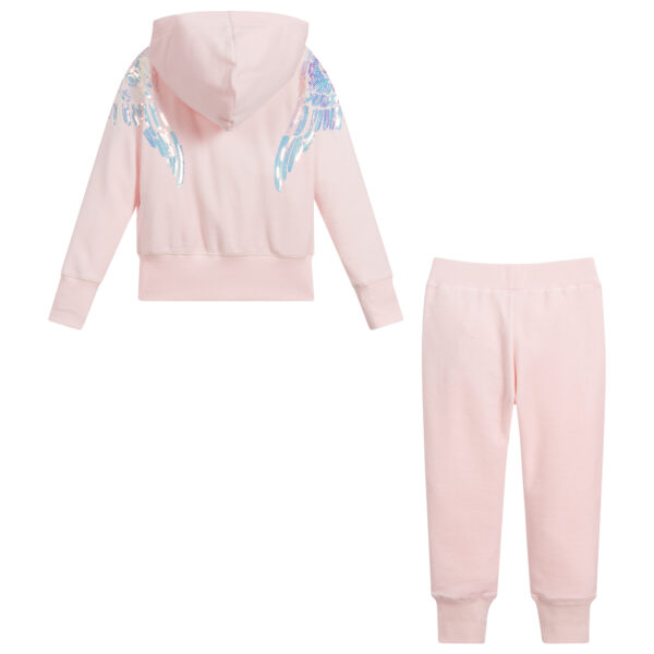 Angel's Face Pink Velour Tracksuit For Girls 2