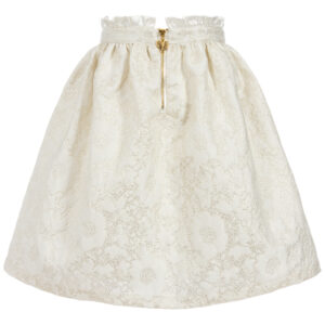 Angel's Face White & Gold Jacquard Skirt Fot Little Princeses 1