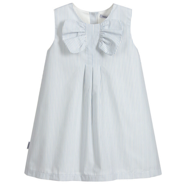 Babidu Blue Striped Dress For Little Angels