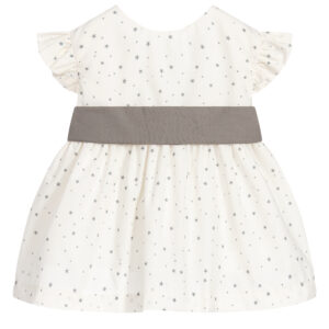 Babidu Grey Dress Set In Stars For Beautiful Girl