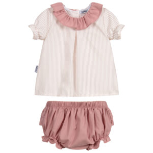 Babidu Lovely Pink Shorts Set For Girls 1